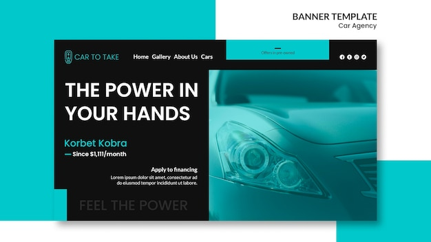 Car agency template