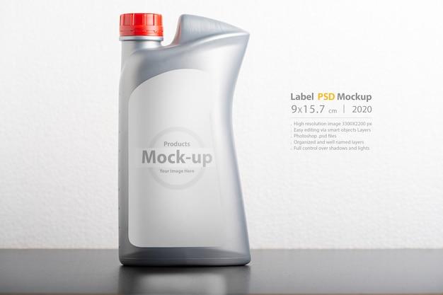 Car hydraulic oil bottle with blank label