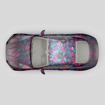 Car mock up design