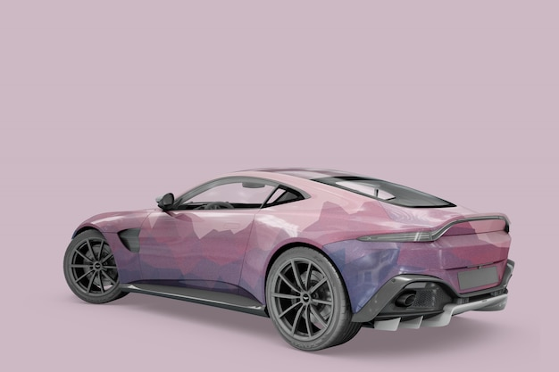 Car mock-up isolated design