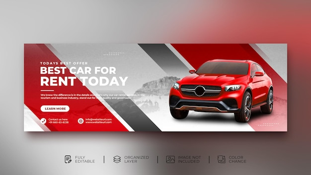 자동차 렌탈 프로모션 소셜 미디어 게시물 웹 배너 템플릿 배경