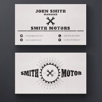 Car repair service business card