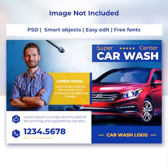 Car wash post card template