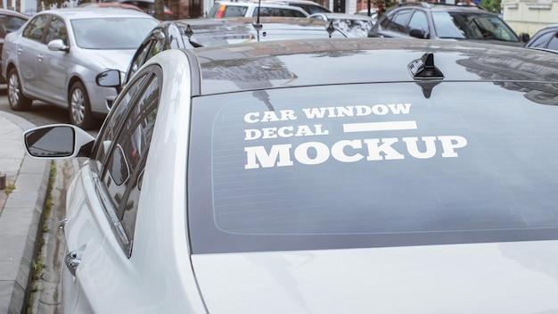 자동차 창 데칼 모형