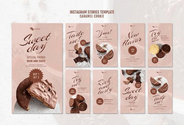 Caramel cookies instagram stoires