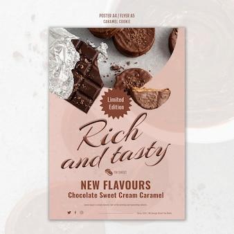 Poster di biscotti al caramello