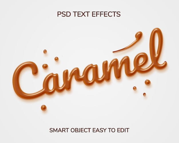 Caramel text style effect