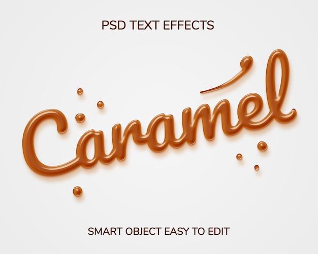 Эффект стиля текста карамель