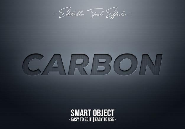 Эффект стиля carbon text