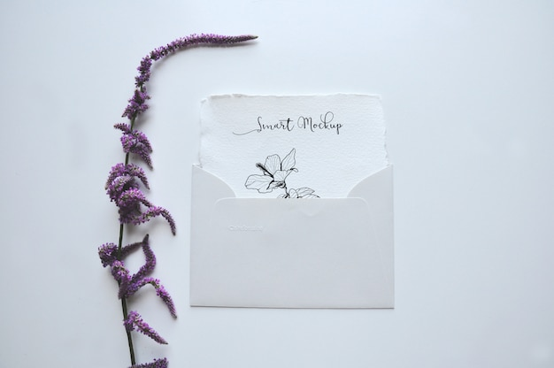 Card in envelope mockup