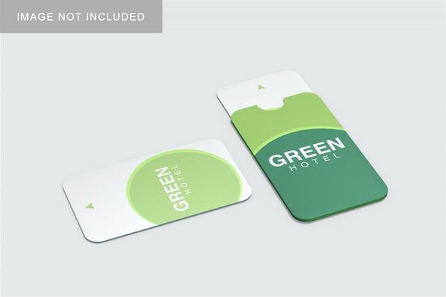Card & holder mockup
