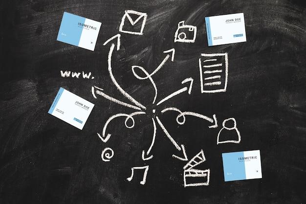 Mockup di carta con il concetto di internet
