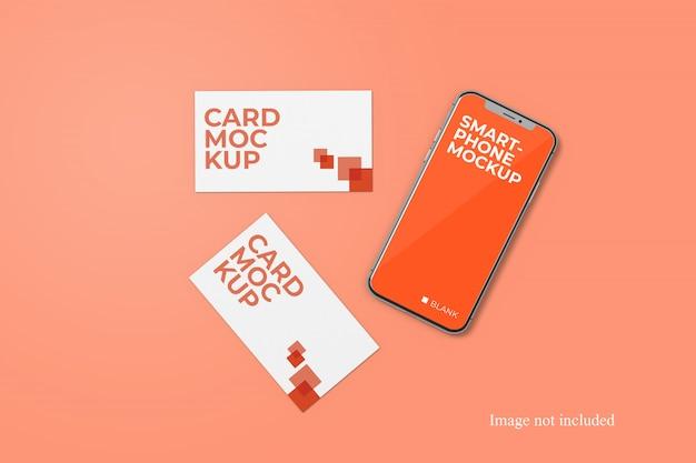 Card and smartphone mockup