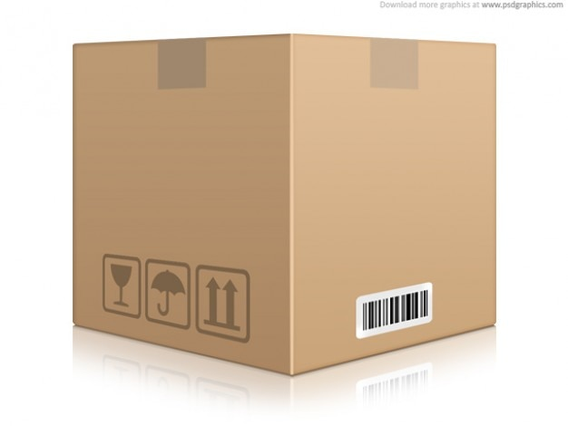 Cardboard box icon (psd)