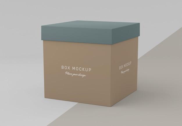 Cardboard box mock-up