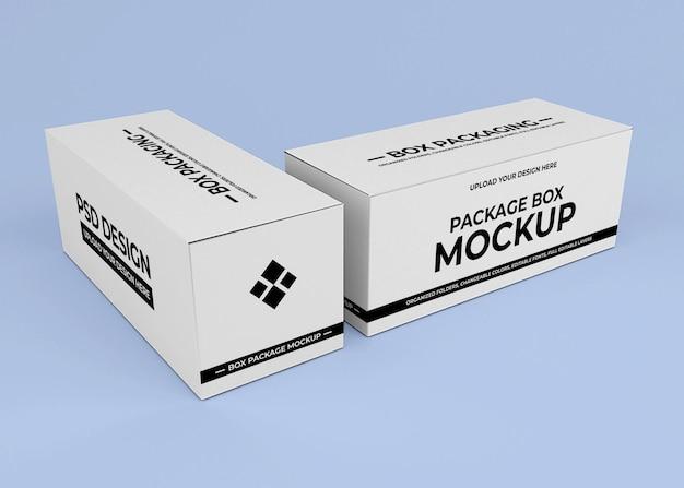 Cardboard box mockup design