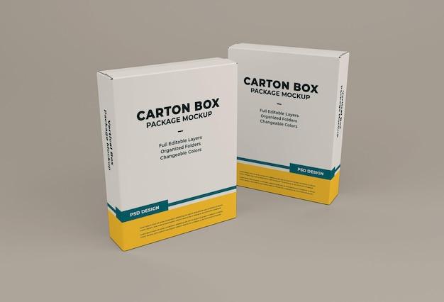 Картонная коробка макет изолированные