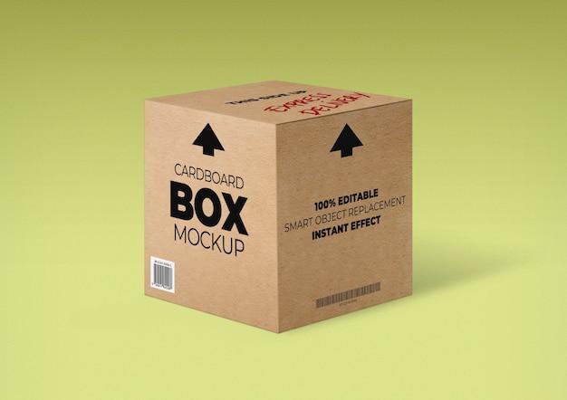 Картонная коробка мокап