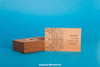 Cardboard business card mockup