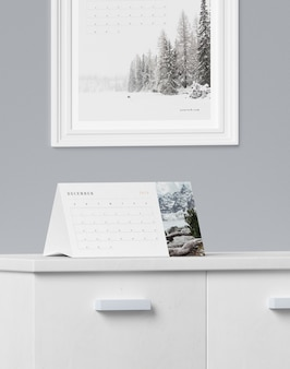 Концепция картона для макета календаря