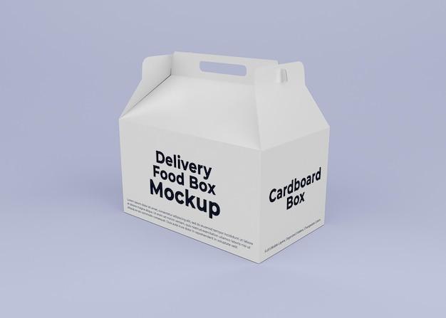 Cardboard delivery box mockup design