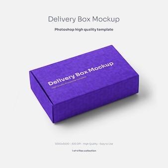 Cardboard delivery box mockup
