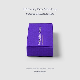 Картонная коробка доставки, макет
