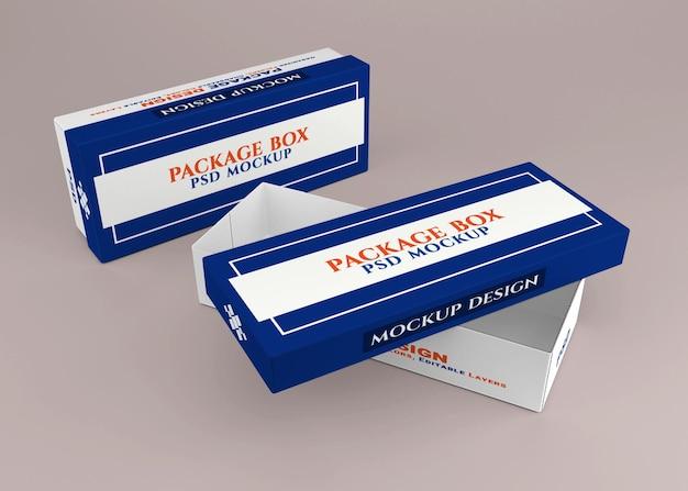 Cardboard package box mockup design