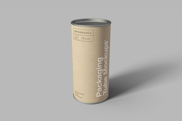 Cardboard packaging tube mockup