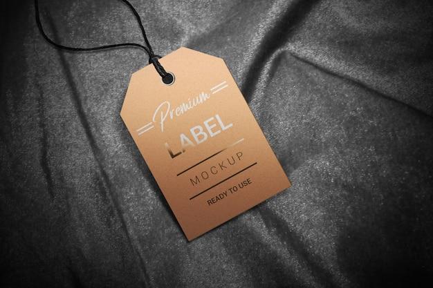 Cardboard price label mockup
