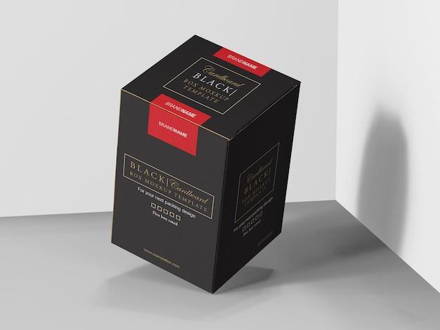 Modello di mockup della scatola del prodotto in cartone