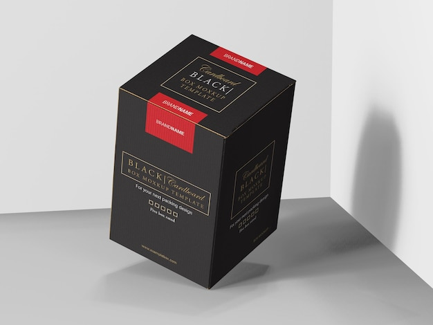 Cardboard product box mockup template