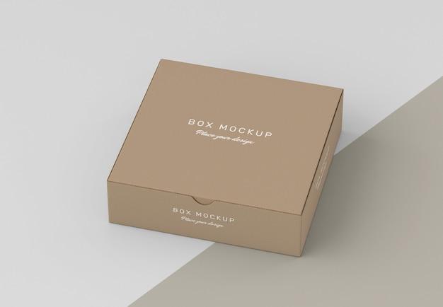 Modello di scatola portaoggetti in cartone