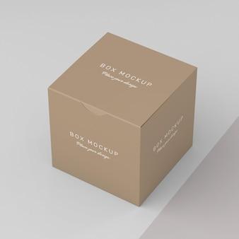Cardboard storage box mock-up