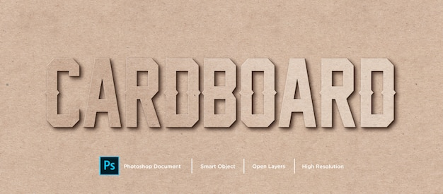 Cardboard text effect design photoshop layer style