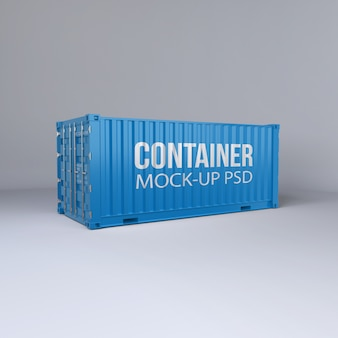 Cargo container mockup