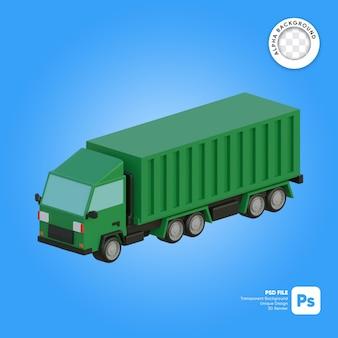 貨物トラックの3dオブジェクトアイソメ