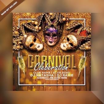 Carnival celebration party flyer