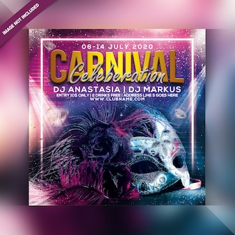Carnival celebration party flyer