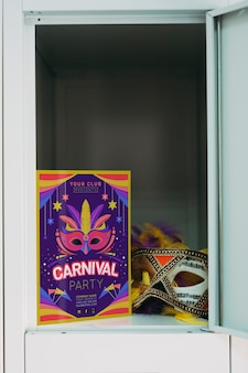 Carnival flyer mockup