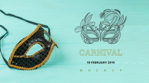 Carnival mockup with image of mask