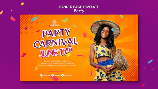 Carnival party banner template