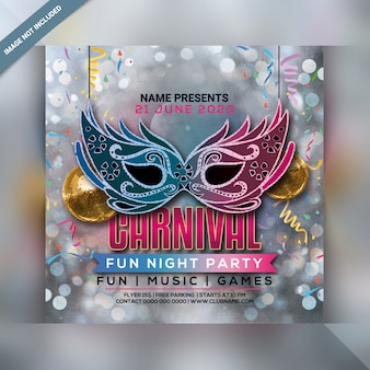 Carnival party flyer