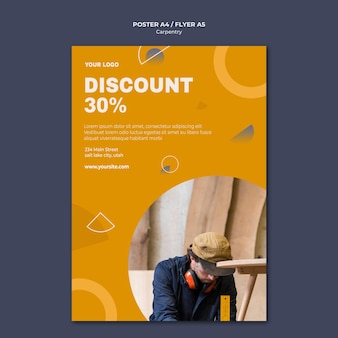 Carpenter ad flyer template