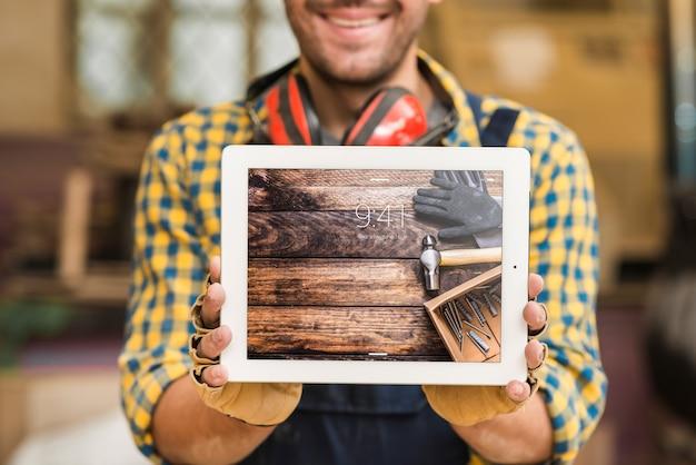 Modello della compressa della tenuta del carpentiere