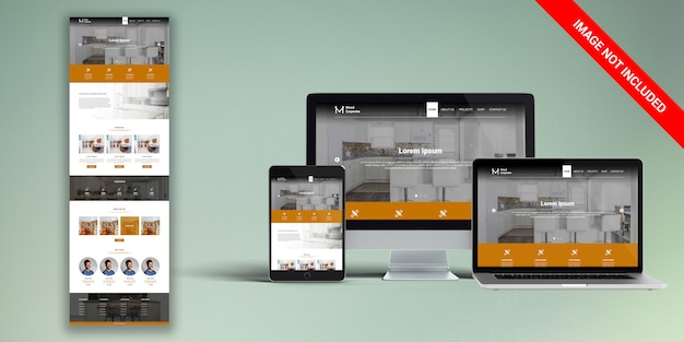 Carpenter web template psd