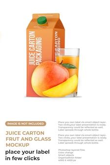Carton juice packaging box