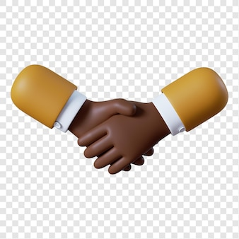 Cartoon african-american businessman handshake gesture