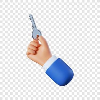 Мультфильм бизнесмен рука с ключом