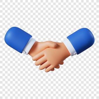 Cartoon businessman handshake gesture